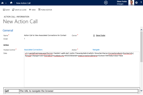 3 - create new action call and paste in url details